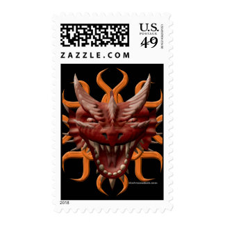 Dragon Head - Red Stamp