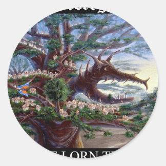 Dragon Head T Bk Classic Round Sticker