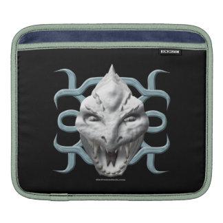 Dragon Head - White iPad Sleeves