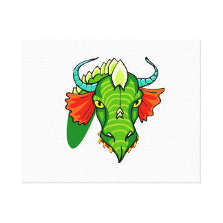 Dragon head with horns.png stretched canvas prints