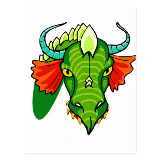 Dragon head with horns.png post cards
