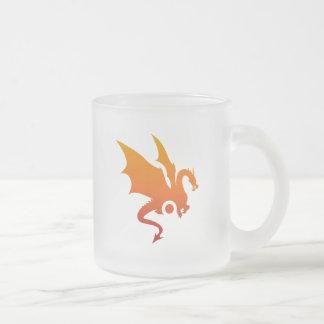 Dragon heat frosted glass coffee mug