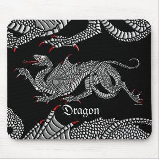 Dragón heráldico plata - Mousepad Alfombrilla De Raton