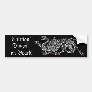 Dragón heráldico (plata) - pegatina para el parach pegatina de parachoque