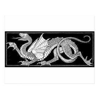 dragón heráldico postales