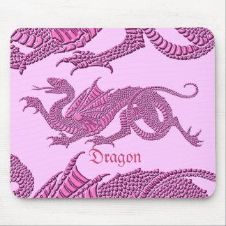 Dragón heráldico rosa - Mousepad Tapete De Ratón