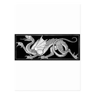 dragón heráldico tarjeta postal