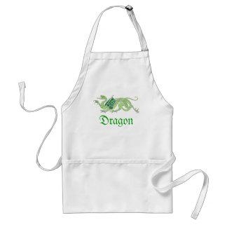 Dragón heráldico (verde) - delantal #2