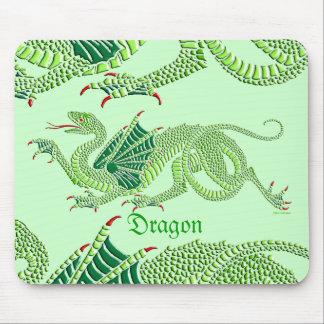 Dragón heráldico verde - Mousepad Tapete De Raton