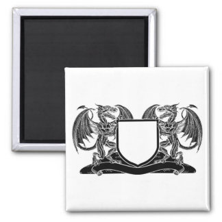 Dragon Heraldry Crest Coat of Arms Shield Emblem Magnet