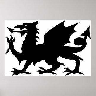 Dragon Heraldry Poster