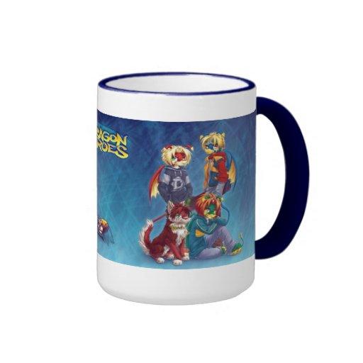Dragon Heroes Ringer Coffee Mug