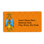 Dragon Holding Candle Custom Shipping Label