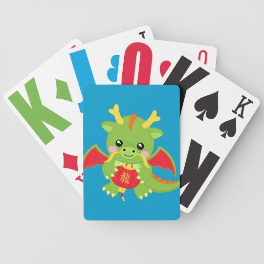 Dragon Holding Lantern Bicycle Playing Cards