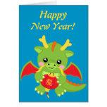 Dragon Holding Lantern Cards
