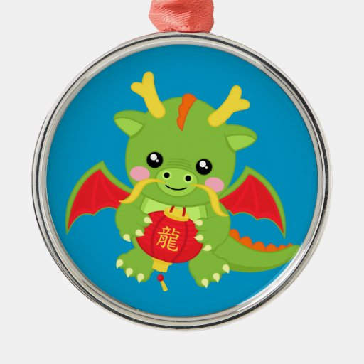 Dragon Holding Lantern Christmas Ornament