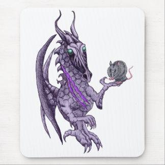 dragon holding rat mousepad