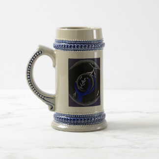 Dragon Holds Crystal Ball to see lightning Strike 18 Oz Beer Stein