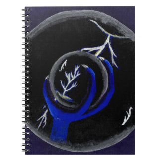 Dragon Holds Crystal Ball to see lightning Strike Notebook