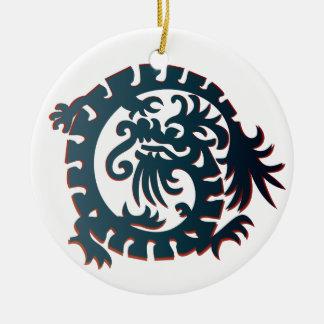 Dragon Icon - Blue Red White - 1NBG Ceramic Ornament
