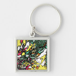 Dragon Illustration Keychain