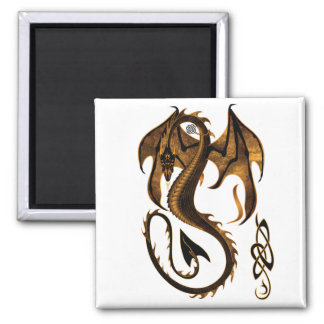 dragón imán cuadrado