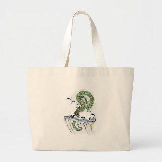 Dragón imperial bolsa tela grande