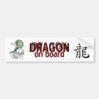 Dragón imperial pegatina para auto