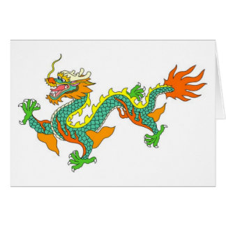 dragón, imperial, dios, diosa, señor, China, china Felicitación