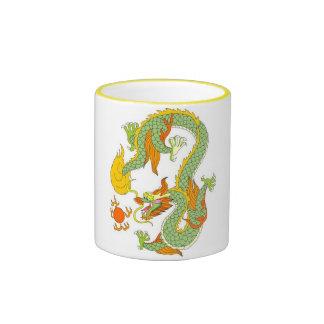 dragón, imperial, dios, diosa, señor, China, china Taza A Dos Colores