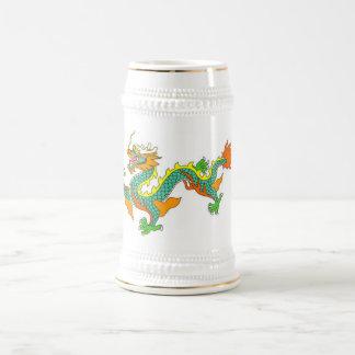 dragón, imperial, dios, diosa, señor, China, china Jarra De Cerveza