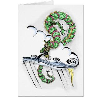 Dragón imperial tarjeta de felicitación