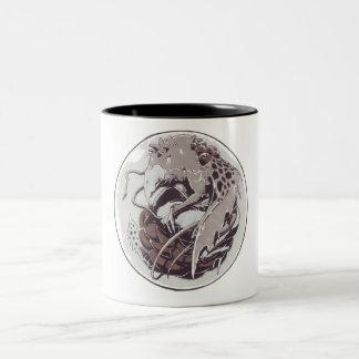 Dragon in a marble mug
