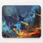 """Dragon In Battle Mouse Pad<br><div class=""""desc"""">This awesome Mouse Pad features a fantasy scene of a fire breathing dragon,  in flight and battle.</div>"""