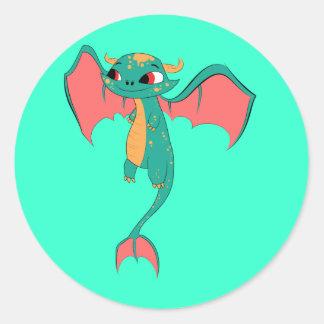 Dragon in flight, Magical Creature Classic Round Sticker