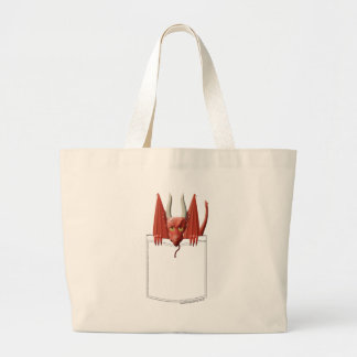 Dragon in my Pocket Large Tote Bag
