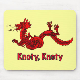 Dragon in Red Mouse Pad