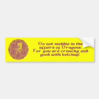 Dragon in Round Celtic Knot Car Bumper Sticker