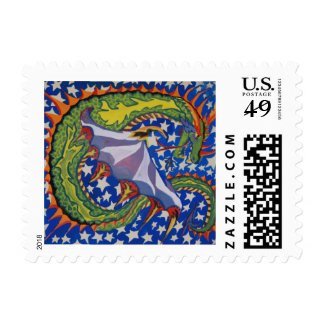 Dragon in the Stars Postage