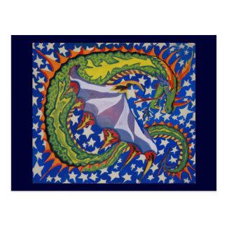 Dragon in the Stars Postcard