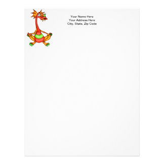 Dragon In Time Out Letterhead
