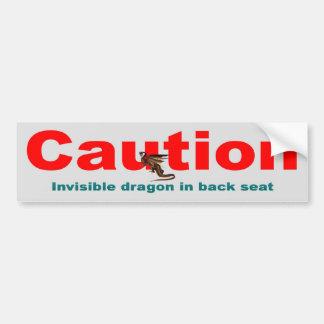 Dragón invisible pegatina de parachoque