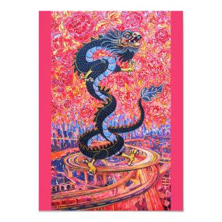 """Dragon Invitation 4.5"""" X 6.25"""" Invitation Card"""