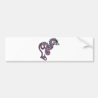 Dragón iridiscente pegatina de parachoque