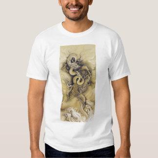 Dragón japonés camisas