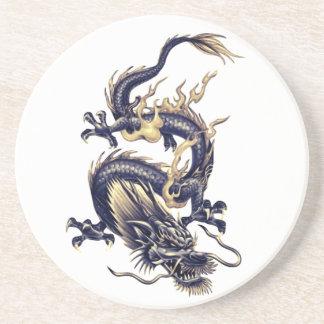Dragón japonés chino - práctico de costa 2 de la posavaso para bebida