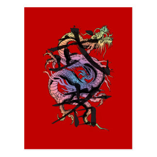 Dragón japonés postales