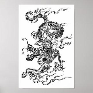 Dragón japonés póster