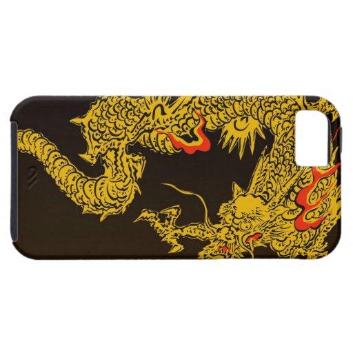 Dragón japonés tradicional iPhone 5 carcasa