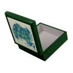Dragón Jeweled azul Cajas De Recuerdo